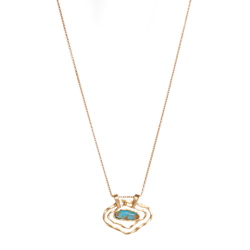 Deco Impression Necklace - Turquoise - Christina Greene LLC