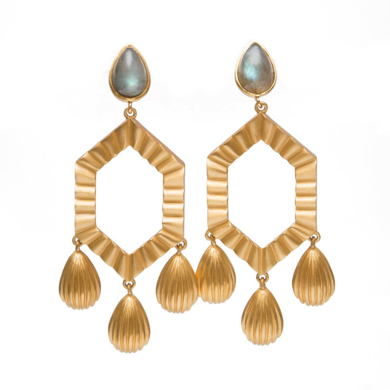 You're a Gem Statement Earrings - Labradorite - Christina Greene LLC