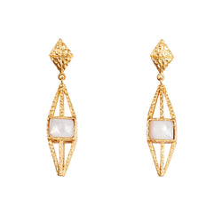 Attis Earrings - Pearl - Christina Greene LLC