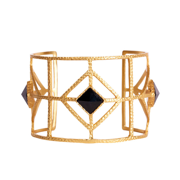 Lux Cuff - Black Onyx - Christina Greene LLC