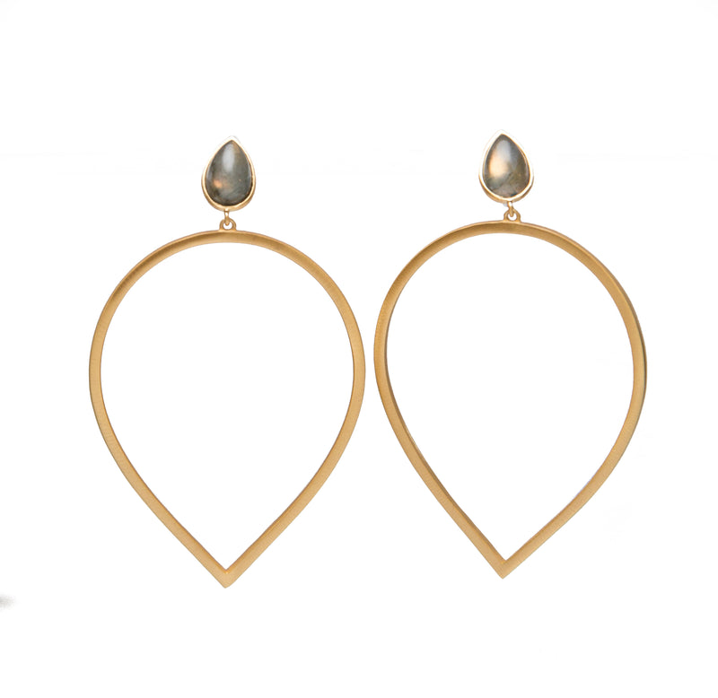 Daybreak Statement Earrings - Labradorite - Christina Greene LLC