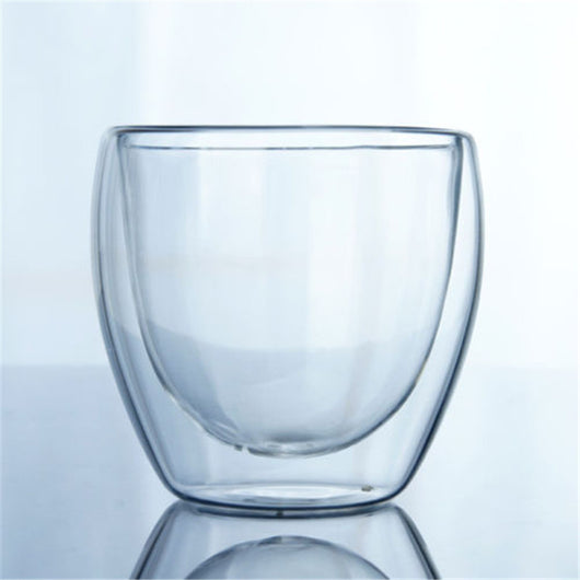 Glass Insulated Transparent Coffee Cup