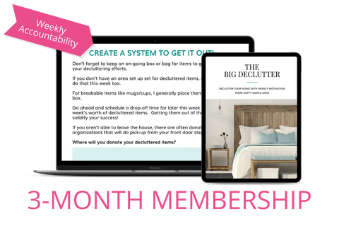 The Big Declutter - 3 Months of Weekly Challenges + BONUSES