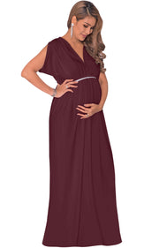 ROCHELLE - Long Maternity Baby Shower Pregnancy Summer Maxi Dress Gown