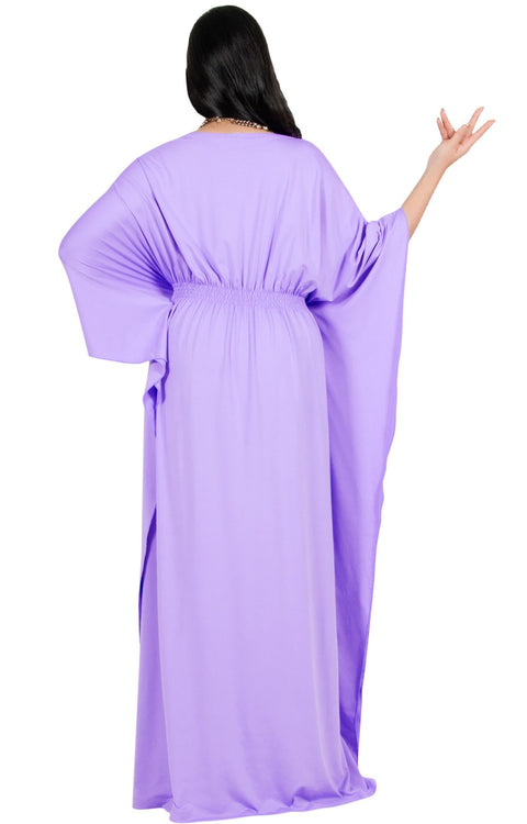 Adelyn & Vivian Plus Size Kaftan Half Sleeve Long Maxi Dress