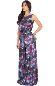 AERIN - Summer Sleeveless Floral Printed Maxi Dress