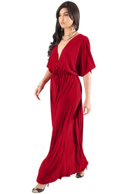 BRIELLE - Sundress Holiday Vacation Maxi Dress Gown Travel Cruise Sun