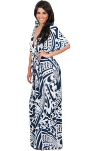 CLAIRE - Kimono Sleeve Cocktail Long Maxi Dress