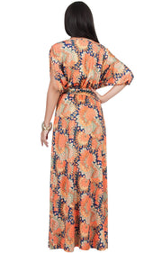 EARTHA - V Neck Summer Sun Long Baby Shower Maternity Maxi Dress