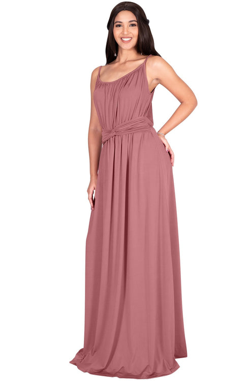 ETA - Long Sexy Bridesmaid Semi Formal Flowy Summer Maxi Dress Gown