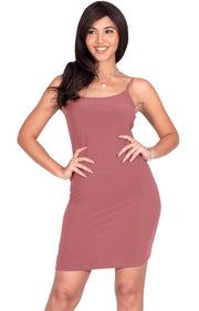 GRACE - Bodycon Camisole Sleeveless Cami Slip Undergarment Midi Dress