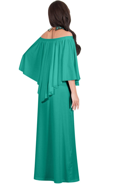 JENN - Maxi Dress Long Sexy Strapless Flowy Cocktail Evening Gown