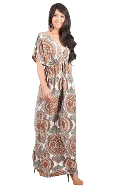 JEZEBEL - Summer Sun Sexy Kaftan Evening Caftan Print Gown Maxi Dress