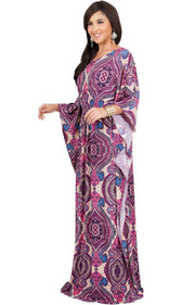 KADEN - Boho Maternity Kaftan Long Abaya Moroccan Maxi Dress