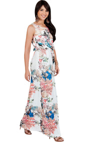 LAUREL - Sleeveless Floral Casual Summer Maxi Dress