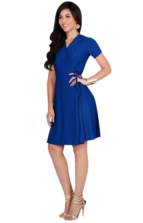LELA - Summer Tunic Sexy Cover Up Short Sleeve Midi Mini Dress