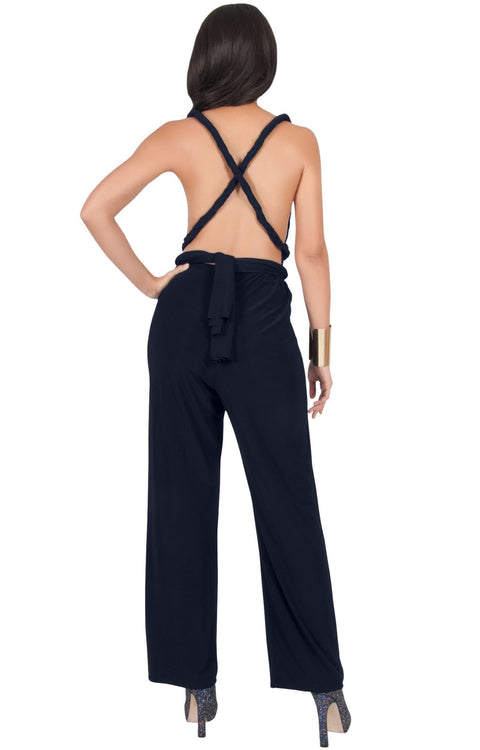 MARISOL - Convertible Wrap Jumpsuit Romper Cocktail Sexy Party Evening