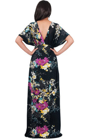 MARY - Flower Ladies Maxi Dress Gown Kaftan Sexy Sundress Caftan