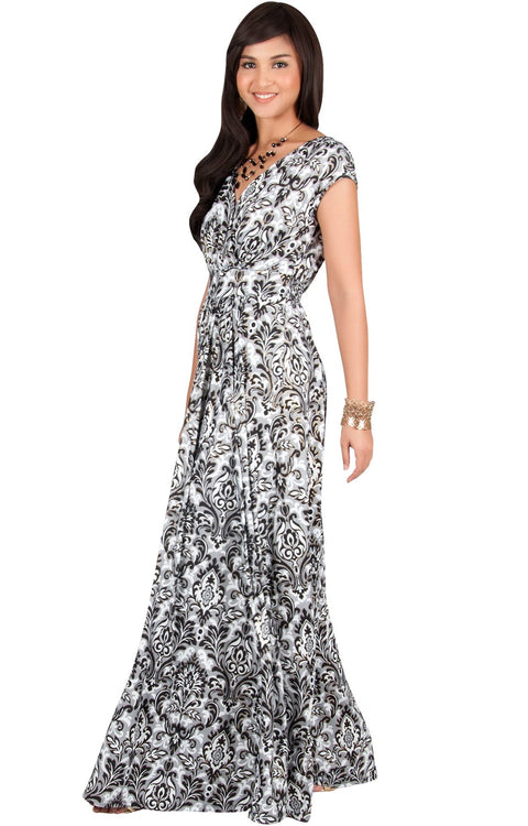 MOANA - Short Sleeve Boho Summer Formal Maxi Dress