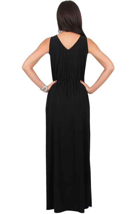 MONICA - Floor Length Maxi Dress Women Gown Bridesmaid Sleeveless