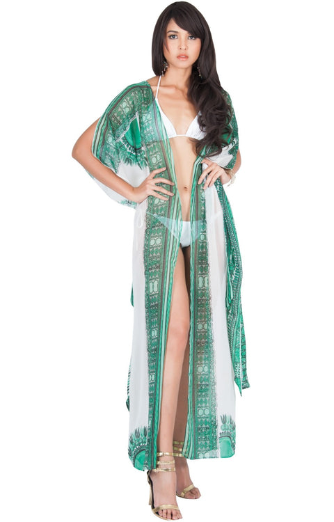 ccbcd2747e1 MONIQUE - Sexy Long Kaftan Short Sleeve Wrap Maxi Dress – GCGme