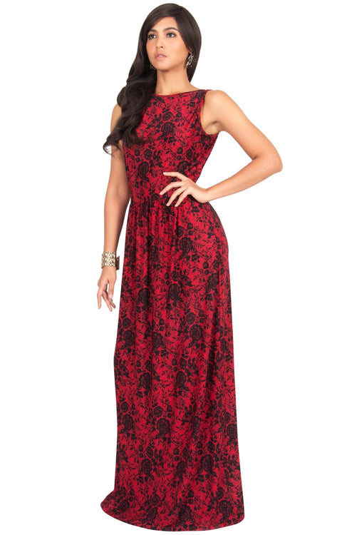 PRIMROSE - Long Spring Summer Flowy Floral Vacation Party Maxi Dress
