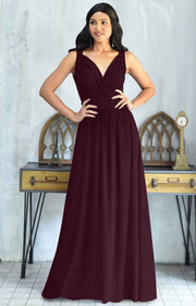 SHIROI - Elegant Flowy Bridesmaid Cocktail Evening Maxi Dress Gown