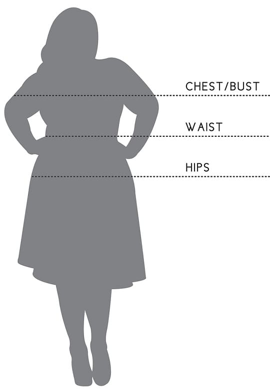 measurement plus size women clothing chart