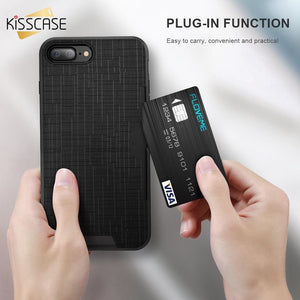 Side Slip Card Slot Case For iPhone