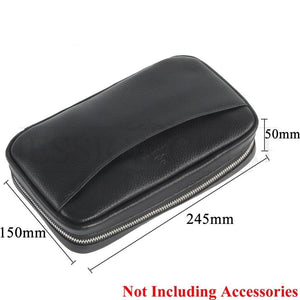 Best Travel Humidor - Portable Genuine Leather Cigar Humidor Pouch