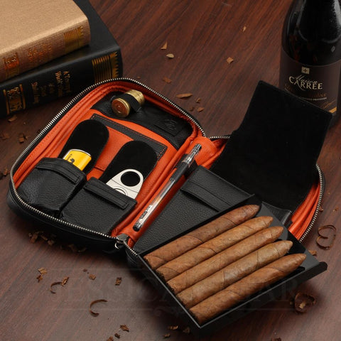 Best Travel Humidor - Portable Genuine Leather Cigar Humidor Pouch - My Joy Hub