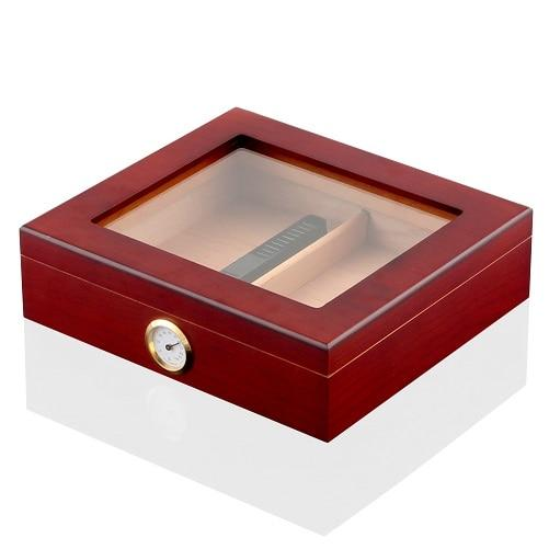 Humidor - Spanish Cedar Wood Cigar Humidifier Box with Magnic Hygrometer - My Joy Hub