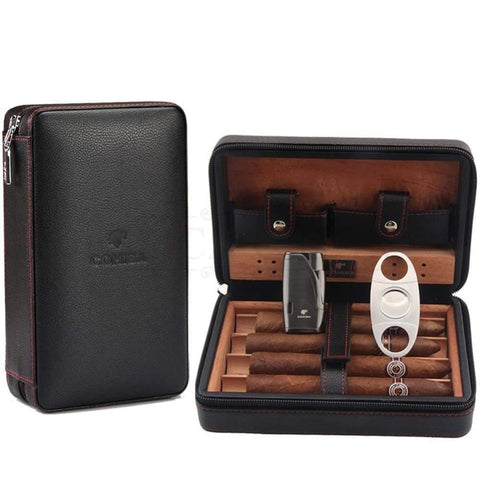 Travel Humidor - Best Portable Leather Travel Cigar Humidifier Gift Box - My Joy Hub