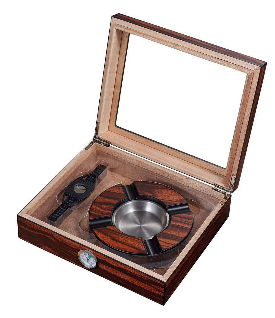 Cigar Humidor Humidifier Gift Box with Cutter and Ashtray - My Joy Hub