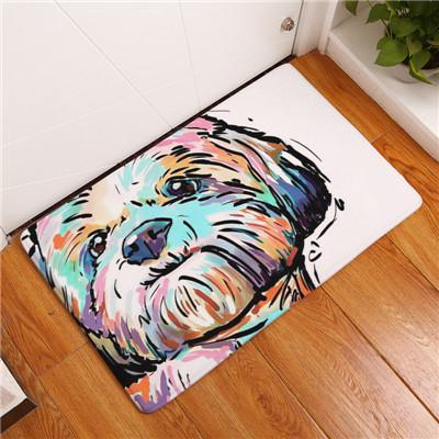 Image of Cartoon Style Lovely Dog Carpet - My Joy Hub