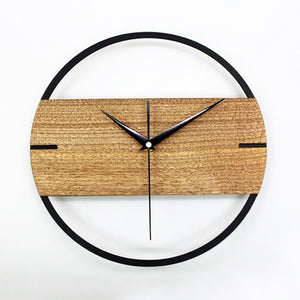 Simple Modern Vintage Wood Wall Clock