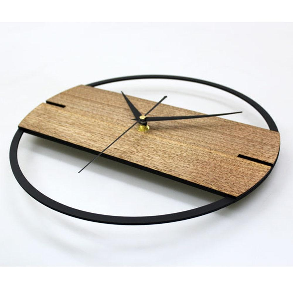 Simple Modern Vintage Wood Wall Clock - My Joy Hub