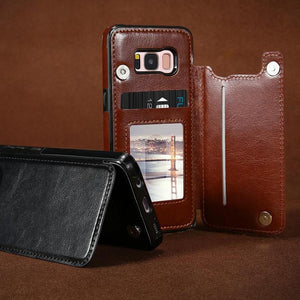 Luxurious Samsung Galaxy Leather Card Slot Wallet Phone Case