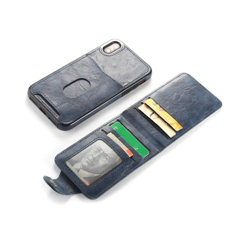 Image of Magnetic Detachable Leather Wallet Case For iPhone 6 6S 7 8 Plus X XS Flip Cover - My Joy Hub