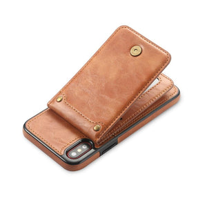 Magnetic Detachable Leather Wallet Case For iPhone 6 6S 7 8 Plus X XS Flip Cover