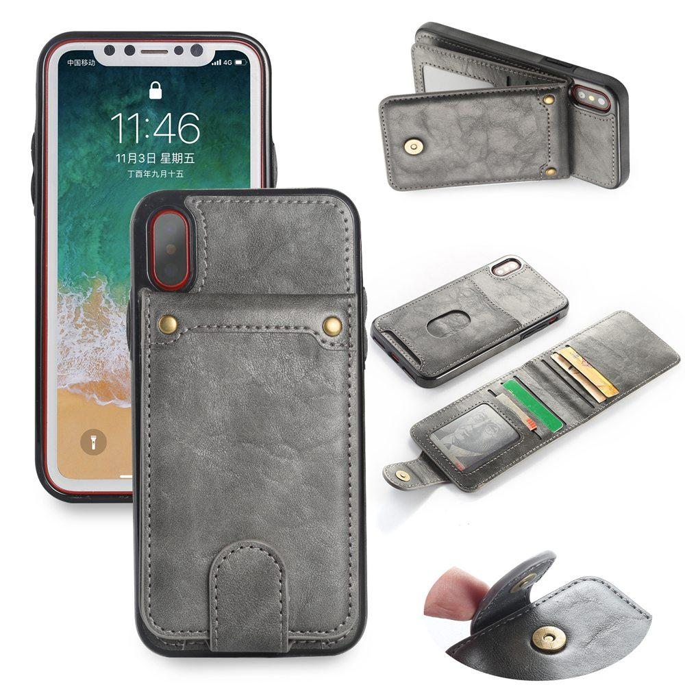 Magnetic Detachable Leather Wallet Case For iPhone 6 6S 7 8 Plus X XS Flip Cover - My Joy Hub