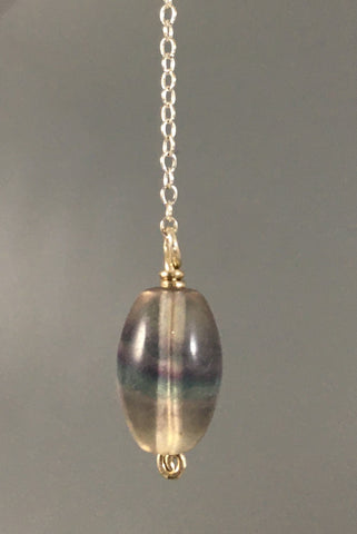 rainbow fluorite bead pendulum made on fall EQUINOX