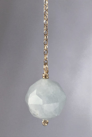 Aquamarine bead pendulum - Fall Equinox