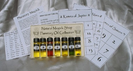 Planetary oils Set of Seven - Natural Magick Shop
