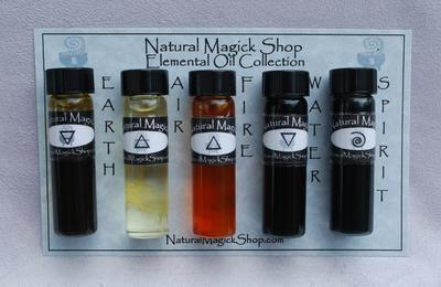 Elemental Oils set of five 1/4 oz - Natural Magick Shop