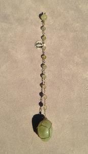 Big Prehnite beaded chain pendulum - Natural Magick Shop