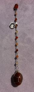 Carnelian beaded chain pendulum - Natural Magick Shop