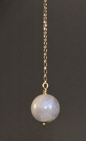 Rainbow Moonstone pendulum - Fall Equinox