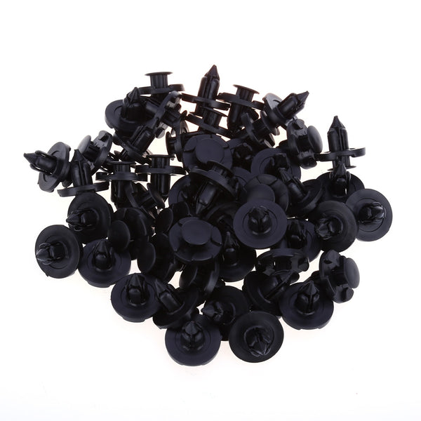 50pcs 1362 8MM Car Plastic Rivets Door Push-type Fastener Retainer Clips