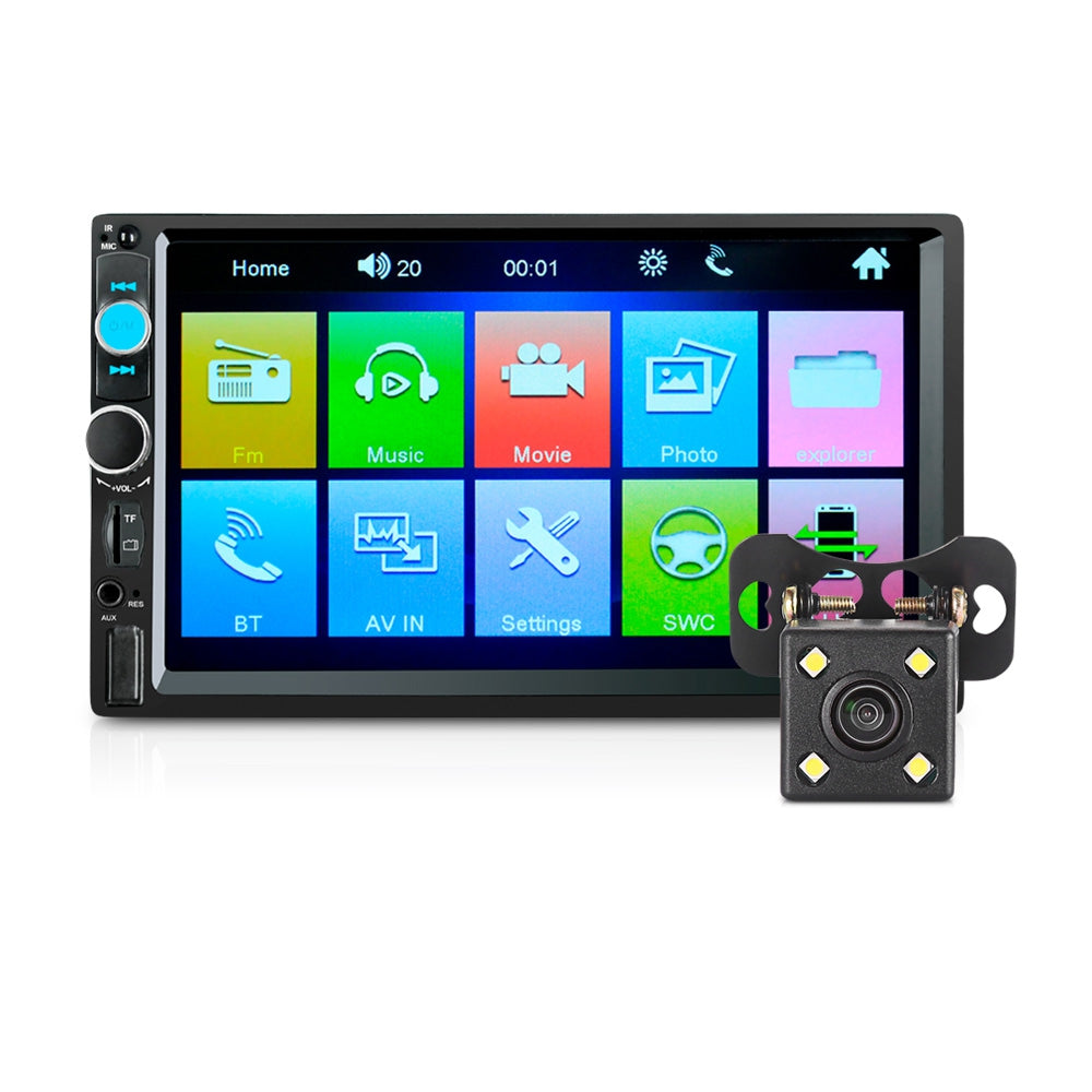 7020G 7 inch Car Audio Stereo MP5 Player Remote Control GPS